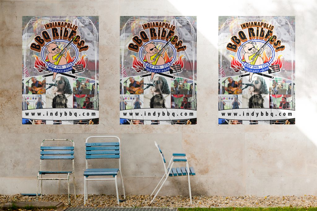 affiches bbq ribfest indianapolis